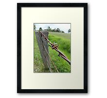 Barbwire Fence Framed Print