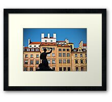 Mernaid in Warsaw Framed Print