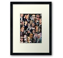 Martin Freeman Collage Framed Print