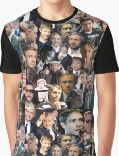 Martin Freeman Collage Graphic T-Shirt