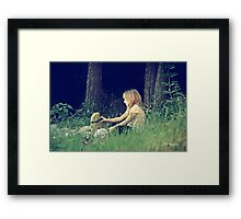 When I see it.... in stone. Framed Print