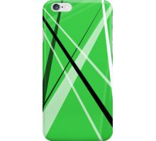 Lined Green iPhone Case/Skin