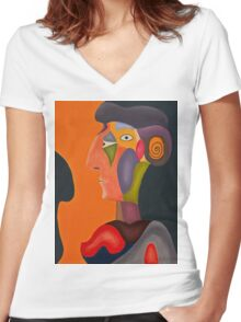 Cubism 2 Women's Fitted V-Neck T-Shirt