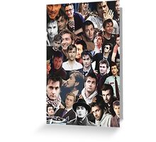David Tennant Collage Greeting Card