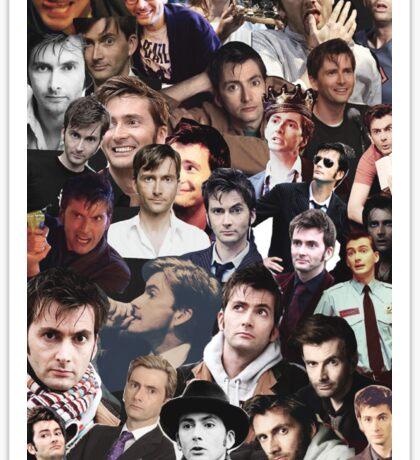 David Tennant Collage Sticker