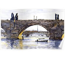 Prague Bridges Poster