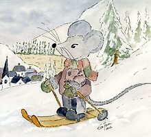 Skiing Mouse by Eva  Ason