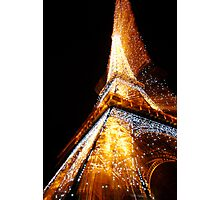 Eiffel Tower Sparkles Photographic Print