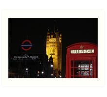 Tele booth - Westminster - London Art Print