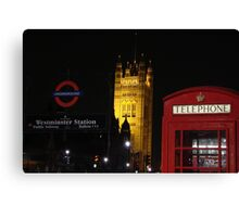 Tele booth - Westminster - London Canvas Print