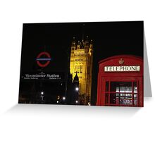 Tele booth - Westminster - London Greeting Card