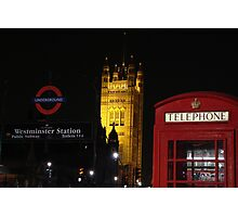 Tele booth - Westminster - London Photographic Print
