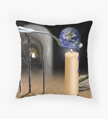 Mother Nature on the Run Throw Pillow