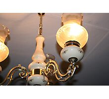 Evelyn's Chandelier Photographic Print