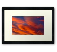Orange Clouds Framed Print