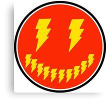 Funny Lightning Bolts Canvas Print