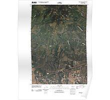 USGS Topo Map Washington State WA Indian Rock 20110407 TM Poster