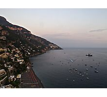 Dusk over the Mediterranean Photographic Print