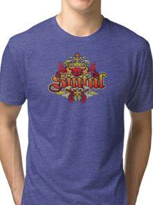 distressed Devil T-Shirt Tri-blend T-Shirt