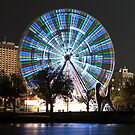 Melbourne at night - The Wheel by DavidsArt
