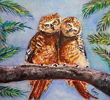 Larry's Owls... by Robin Monroe