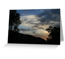 At the end of the day. Greeting Card