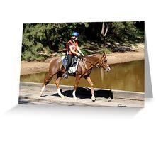 Endurance Rider at Colo River Bridge Greeting Card