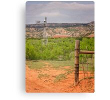 North Texas Windmill Canvas Print