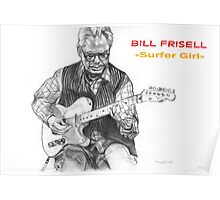 Bill Frisell - Graphite pencil illustration Poster