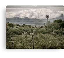 Davis Mountain Windmill Canvas Print