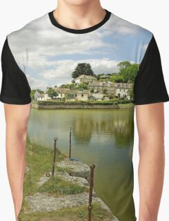 The Harbour With No Boats, Pentewan Graphic T-Shirt