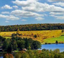 New York Countryside Landscape Sticker