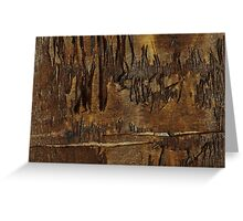 Abstract  Landscape of  Sunset After The fires Greeting Card