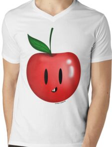 Apple! Mens V-Neck T-Shirt