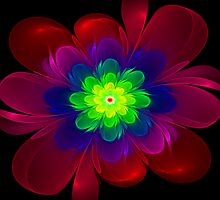 Colorful Flower by Sandy Keeton