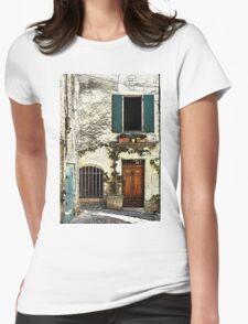Green shutters Womens Fitted T-Shirt