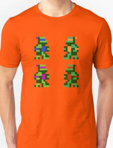 8 bit Funny Turtles T-Shirt