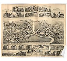 Panoramic Maps Lonsdale Rhode Island 1888 Poster