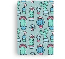 Pretty Cacti Canvas Print