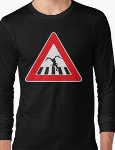 Caution - Necromorph Crossing Long Sleeve T-Shirt