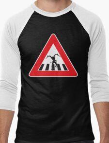 Caution - Necromorph Crossing Men's Baseball ¾ T-Shirt