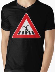 Caution - Necromorph Crossing Mens V-Neck T-Shirt