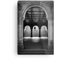 Bethesda Underpass at Central Park, New York City Metal Print