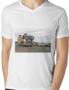 Fire Appliance On A Call, Saltburn Mens V-Neck T-Shirt