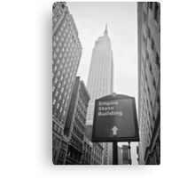 The Empire State Building, New York City Canvas Print