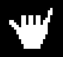 8 BIT Cool Shaka sign - Surf by coolvintage