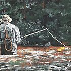 The Fly Fisherman by Judy Bergmann
