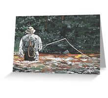 The Fly Fisherman Greeting Card