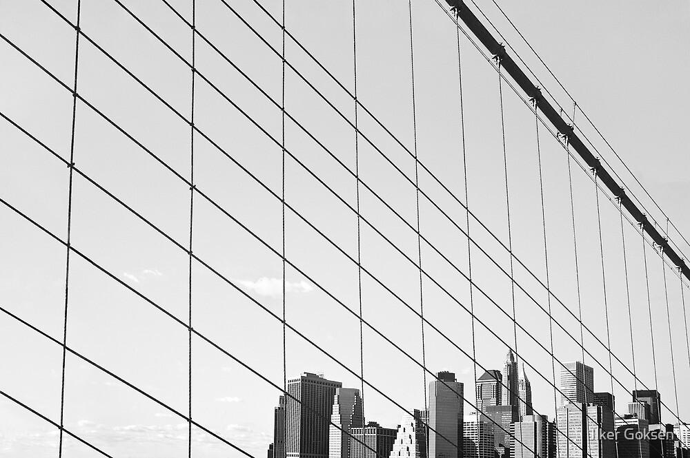 Manhattan from The Brooklyn Bridge, New York City by Ilker Goksen