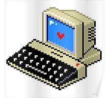 8 BIT Computer - Love Heart Poster